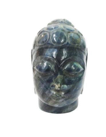 Labradorite Gemstone Buddha Head Face,Marvellous Flashy Labradorite Buddha Head | Hand carved | Pranic Healing | Home Decor | Gemstone Buddha Head | God of Fortune,Meditation Buddha